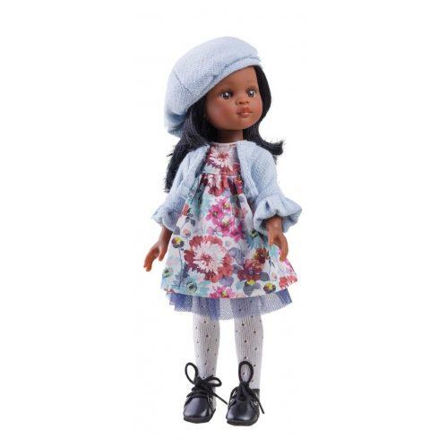 Játékbabák - Játék hajasbaba - Nora Francia barett sapkában 32 cm - Paola Reina