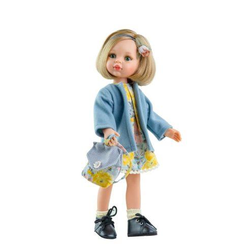 Játékbabák - Játék hajasbaba Carla virágmintás ruhában 32cm Paola Reina