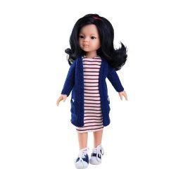 Játékbaba- Hajas baba Liu 32 cm Paola Reina