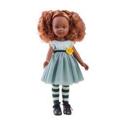 Játékbabák - Hajas babák kislányoknak - Hajas baba Nora Paola Reina Sötét bőrű