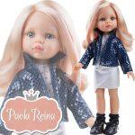 Játékbabák - Hajasbabák - Játékbaba Paola Reina Carla 32 cm Rózsaszín hajú