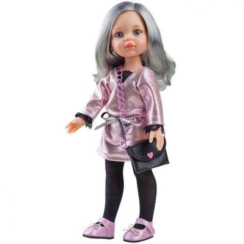 Játékbabák - Hajasbabák - Játékbaba Paola Reina Carol Ezüst Hajú 32 cm