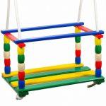 Kerti-játékok - Sport-eszközök - Sárga-zöld színes hinta