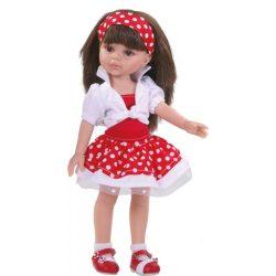 Játékbabák - Hajas babák kislányoknak - Hajas baba Carol Verano Paola Reina pöttyös ruhás