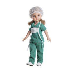 Játékbaba- Hajas baba Carla Enfermera Paola Reina