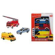 Műanyag járművek - S.O.S. Team set 3 db autó Dickie Vészhelyzet