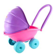 Játék babakocsik - Játékbaba kellékek - Tolható babakocsi napellenzővel D-Toys