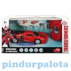 Transformers akciófigurák - Transformers távirányítós autó RC Turbo Racer Sideswipe