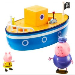 Figurák - Mese figurák - Peppa malac nagypapi hajó szett
