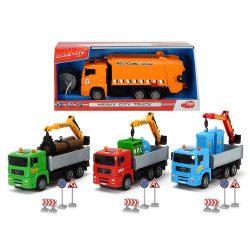 Műanyag járművek - Teherszállító kamion Heavy City Truck Dickie Toys