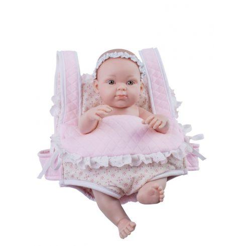 Játékbabák - Játékbaba Mini Pikolin Mochila kenguru hordozóban 32cm Paola Reina