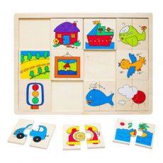 Fa puzzle - Felező járműves