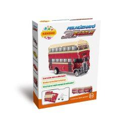 3 D-s puzzle - 3D felhúzható puzzle emeletes busz