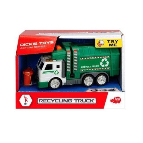 Játék autók - Kukásautó mini Recycling Truck fénnyel, hanggal Dickie Toys