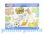 Rajzkészség fejlesztő játékok - Jumbo színező fiús, Melissa & Doug