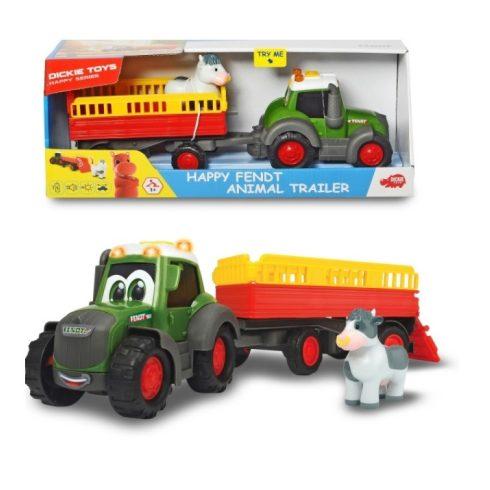 Műanyag járművek - Happy Fendt állatszállító traktor