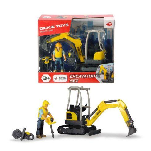 Műanyag járművek - Dickie Playlife Excavator játék szett figurával
