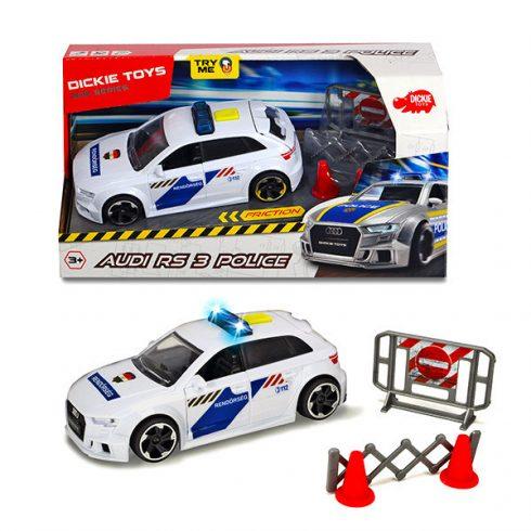 Játékautók - Játék rendőrautó elemes Audi Rs3 Police Dickie Toys Simba