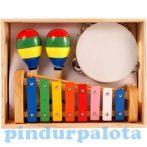 Hangszerek - Hangszerkészlet gyerekeknek, fa, Jamaica