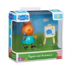 Figurák - Mese figurák - Peppa figura Cili cica mini figura festőállvánnyal