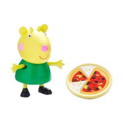 Mese figurák - Mese szereplők - Peppa figura Gabriela kecske mini figura pizzával