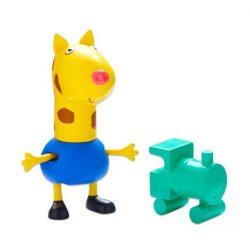 Figurák - Mese figurák - Peppa figura Gerald zsiráf mini figura vonattal