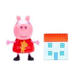 Figurák - Mese figurák - Peppa figura Peppa malac mini figura házikóval