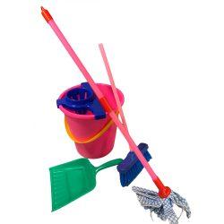 Szerepjátékok - Lányoknak - Játék takarító felszerelés - Készlet takarításhoz gyerekek részére