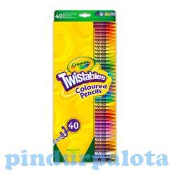 Írószerek - Crayola - Csavarozható színesceruza 40db-os Crayola