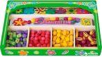 Készségfejlesztő - Fűzős játékok - Fadobozos virágos gyöngyfűző