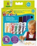 Írószerek - Crayola Baby filctoll 8 db