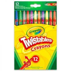 Írószerek - Herlitz - Pelikán - Ico - Crayola - Csavarozható zsírkréta 12db-os Crayola