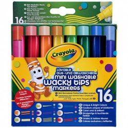 Írószerek - Különleges hegyű 16db-os filctoll Crayola