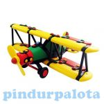 Játékrepülők gyerekeknek - Készségfejlesztő - Építőjáték kétfedelű repülő, Mic-o-mic