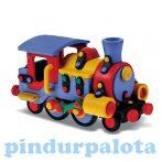 Játékvonatok - Készségfejlesztő - Építőjáték mozdony, Mic-o-mic
