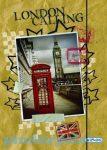 Írószerek - Iskolaszerek - Boxok - Gumis mappa - London mintával