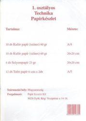 Írószerek - Iskolaszerek - Papírok-kartonok - Technika csomag I.