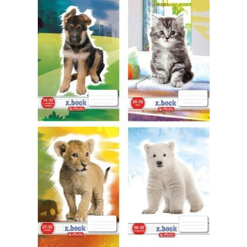 Írószerek - Iskolaszerek - Füzetek - Sima állatmintás