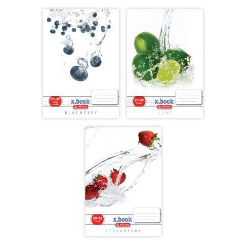 Írószerek - Iskolaszerek - Füzetek - Spirál kockás Fresh Fruit
