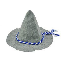 Jelmezek - Jelmez kiegészítők - Jelmez kalap filc anyagból szürke