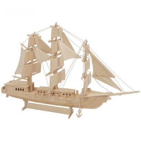 3D-s fa puzzle - Hajó