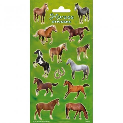 Matricák - Horses Stickers Lovas matrica Funny Products