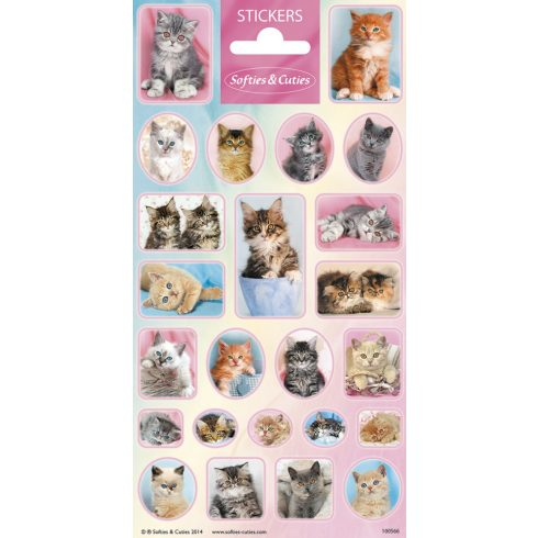 Matricák - Softies & Cuties Stickers Cicás matricák Funny Product