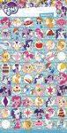 Matricák gyerekeknek - My Little Pony hosszúkás, kisképes matrica - világoskék 102x200mm