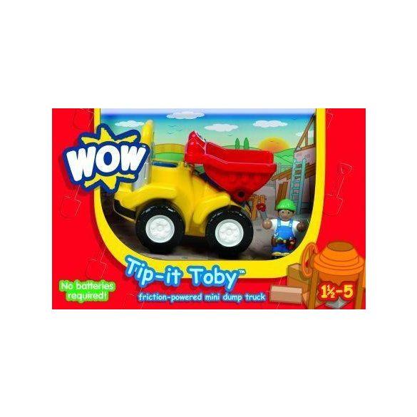 Törhetetlen játék járművek - WOW Toys Toby kis dömpere