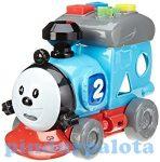 Fejlesztő játékok - Bébi játékok - Formabedobó Thomas vonat babáknak fénnyel és hanggal ABC Simba