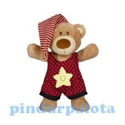 Plüss mackók széles választékban a Pindur Palotában - Jóéjt plüss maci hálósapkával piros ABC Simba