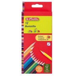 Íróeszközök - Ceruzák - Színesceruzák - Herlitz ceruzakészlet 12 színnel