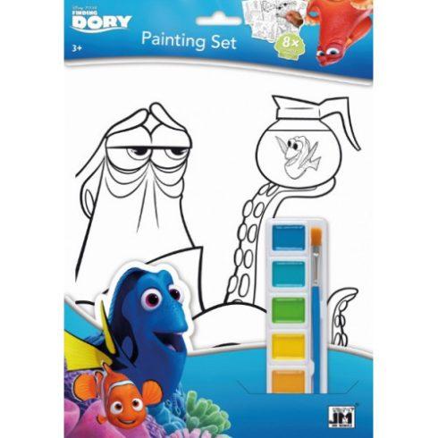 Kifestők - Színezők - Szenilla nyomában - kifestő vízfestékkel, A4