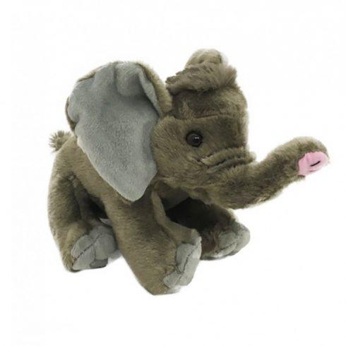Plüss állat - Elefánt, szürke, ülő